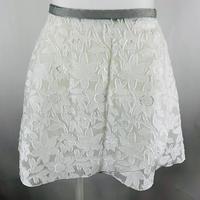 ラップスカート フラワーカットジャガード ホワイト