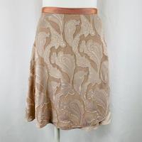 ロマンチックバックテイルラップスカート カットジャガード リリー ダルサーモン