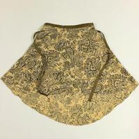 バックテイルラップスカート エキゾチックプリント ベージュ