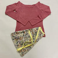 【Sylphynes】シルフィーヌ    セレクション 数量限定セット④-Q ラウンドネック長袖Tシャツ+ラップスカート