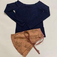 【Sylphynes】シルフィーヌ    セレクション 数量限定セット④-S ラウンドネック長袖Tシャツ+ラップスカート