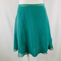 ロマンチックバックテイルラップスカート カレイドスコープ フレッシュグリーン