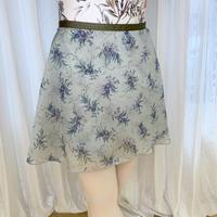 【sylphynes】アザミ ラップスカート 38cm丈 グラスグリーン<20123>