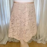 【ラップスカート】ミルパレース ロングスクロール43cm丈 ネールピンク<20135>