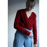 Meino wool Cross Tuck Tie Knit (ls076)