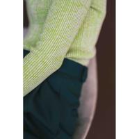 Wool Cotton Rib Curve Hem Turtle(ls200K)