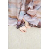 Watercolor Print Tucked Inside Wide Pants(ls11209P)