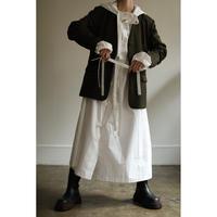 Wool Gabardine No-collar Tailored Jacket(ls14257J)