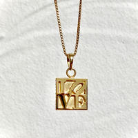 "【NEW】IN-PUT-OUT ""The other side of love"" Reversible Necklace K18 GP/ Silver925"