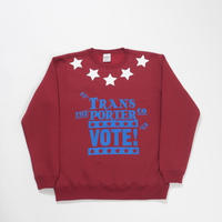 STAR CREW SWEAT-WINE