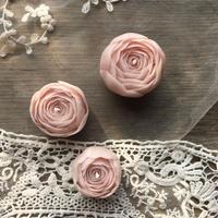 ローズキャンドル・3個セット/ピンク 蜜蝋キャンドル