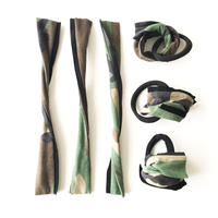 Camouflage ribbon tie
