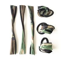 Camouflage ribbon tie