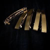 T barrette / Gold×Black