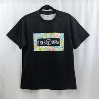 【辺野喜未来プロデュース第1弾】花柄Tシャツ ブラック