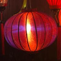 ベトナムランタン 丸形 Lサイズ 赤紫