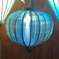 ベトナムランタン 丸形 Lサイズ 青緑