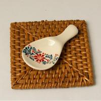 バッチャン焼き レンゲ・箸置き 【花】