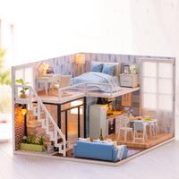 ドールハウス キット 人気 ミニチュア おもちゃ 木製  家具 小物 自作 照明 Led