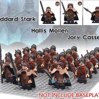 ゲームオブスローンズ キャラクター スターク レゴ互換 北部軍弓兵16体+指揮官3体分