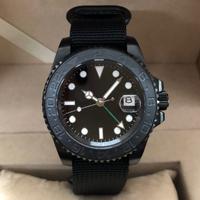 【メンズ 腕時計】Parnis(パーニス)腕時計 ブラックセラミックベゼル PVDケース 40mm オマージュウォッチ