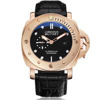 KIMSDUN  自動巻き マリーナミリターレ等が好きな方へ 高級感 漂う ブロンズ腕時計