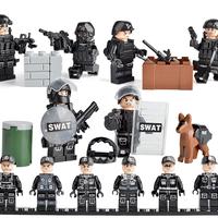 軍事ミニフィギュア  Swat 警察 軍 チーム ミニフィグ レゴ互換