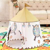 テントハウス おもちゃ 子供 プレイテント キッズ 折りたたみ ポータブル 123×116cm 旗 子供 ティーピーテント 誕生日 クリスマスギフト