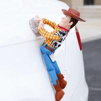 トイストーリー キャラクター ウッディ バズ 車 ぶら下げる しがみつき人形