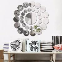 ミラー ウォールステッカー インテリア デカール アート 浴室 部屋 装飾 31 個 ビッグ 小円形