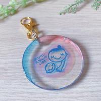 【MM-003】しゃぼん玉 マタニティマーク キーホルダー