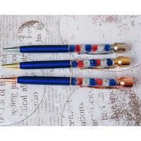 【O-012-3】フラワー 印鑑 ボールペン 補充用インク付