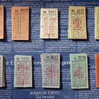 【イギリス】ヴィンテージ 使用済みバスチケット 10種(トータル100枚セット)