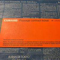 【アメリカ】キュナードライン 蒸気船のチケットブック