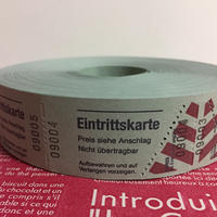 【ドイツ】Eingrittskarte(入場券)チケット グリーン 1ロール(1000片)