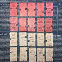 【イギリス】最終販売 使用済みの鉄道チケット ホワイト&ピンク 各20枚(計40枚セット)