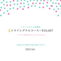 【トライシグナル応援枠】トライシグナルコース【PC用待ち受けカレンダー(ロゴ入り) ※3人orソロ※月替り】