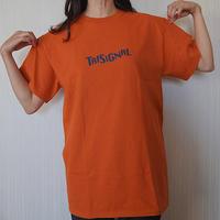 【※数量・サイズに限り有り】シルエットTシャツ【 テキサスオレンジ🍊】
