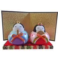 ミニ 雛飾り お雛さま 陶器 ハンドメイド i0236