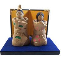立雛 ミニ ひな飾り アンティーク調 陶器 i0232