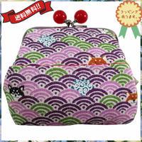 がま口財布 ピンク コットン かわいい 日本製 送料無料 8978
