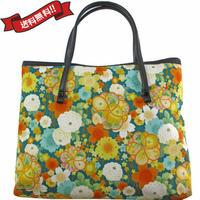 日本製 和柄 バッグ ミニ 菊 桜 グリーン 花柄 送料無料 着物 浴衣 8962