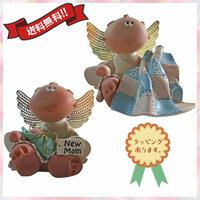 オブジェ 置物 出産祝い 陶器 エンジェル 天使 プレゼント 2点セット i0300
