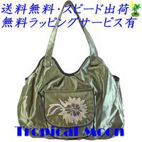 刺繍 バッグ レディース うぐいす フラワー シルク ハンドメイド v0927