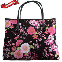 日本製 和柄 バッグ ブラック ミニ 桜 蝶々 花柄 送料無料 着物 浴衣 9024