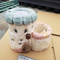 @anzunokakoさん リメ鉢3 お化け屋敷