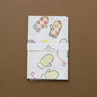 【手拭い】ミトン(赤) / ブロックプリント