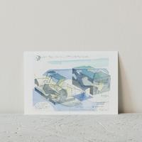 STEVEN HOLL展 ポストカード(Navy blue)