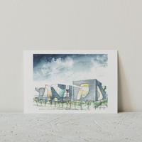 STEVEN HOLL展 ポストカード(Green)
