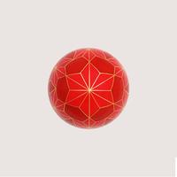截金 彩色 紅「麻の葉」ピンブローチ